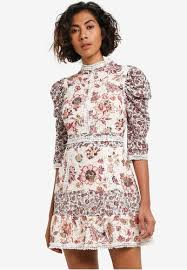topshop dress buy topshop floral lace strappy back mini dress zalora singapore