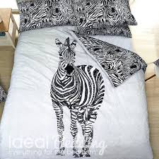 Zebra Print Single Duvet Set Zebra Print Duvet Set And Pillowcase Bedding Set Duvet Sets
