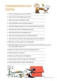 23 free esl trivia worksheets