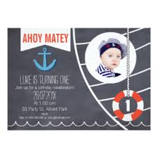 1st birthday nautical invitations u0026 announcements zazzle