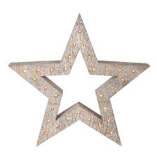 Home Decoration With Lights Large Wooden Star Decoration With Light Up Stars Roman At Home