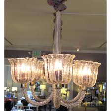 1950s Chandelier Good Quality Murano Barovier And Toso 1950 U0027s Clear Bullicante