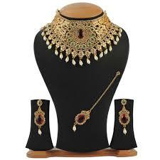 wedding gold necklace sets images Maharani grand wedding necklace set by sanskruti necklace sets jpg
