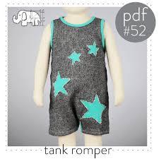 baby tank top romper pattern optional star cutouts pdf