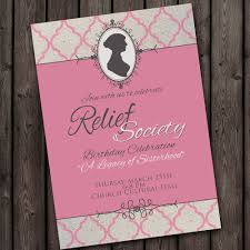 birthday dinner invites relief society birthday party invitation with free customized