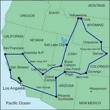 california map national parks american national parks 2 self drive tour