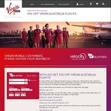 virgin australia 10 off base fares for virgin mobile customers