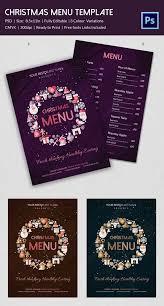 christmas menu template 34 free psd eps ai illustrator word