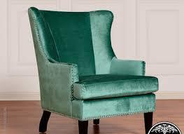 Velvet Wingback Chair Living Room High Back Chair Tov Soho Wing Chair Turquoise Velvet