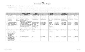 Plan Template Communication Plan Template E Commercewordpress