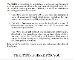 desk appearance ticket nyc nyc police will not help with deportations tell immigrants the