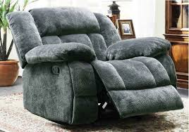 Leather Loveseat Recliner Furniture Rocking Reclining Loveseat Recliner Loveseat Grey