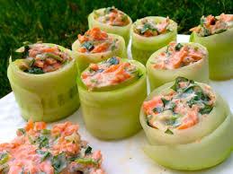 cuisiner les concombres concombres en rouleaux farcis aux carottes papa en cuisine