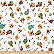 tmnt wrapping paper nickelodeon mutant turtles retro got pizza white