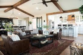 Big Dining Room Get This Look Fixer Upper Big Country House Living U0026 Dining Rooms