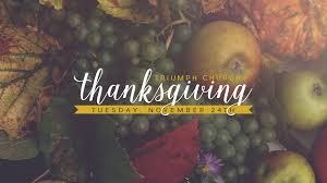 thanksgiving service triumph church