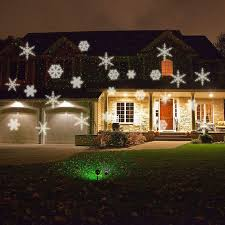 rgb white snowflake automatically moving ip66 led landscape