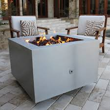 Stainless Steel Firepit Steel Pit 35 In Square With Optional Lid