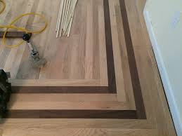 wood floor border inlay wc floors