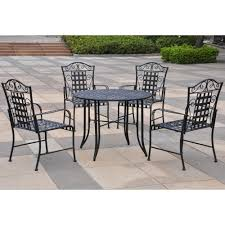 furniture black wrought iron outdoor furniture with wrought iron add a touch of class to your patio with this black wrought iron