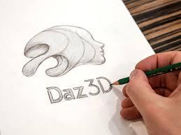 daz 3d logo sketch by bradley f edwards dribbble
