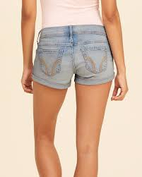 hollister light wash jeans comfortable womens hollister low rise denim short shorts in light wash