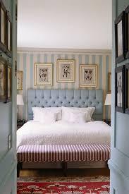 English Blue Stripe Scheme Bedroom Design Ideas  Images - English bedroom design