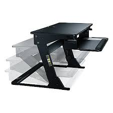 3m precision standing desk black by office depot u0026 officemax