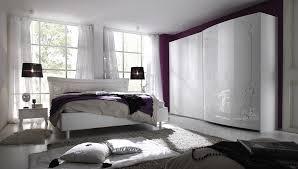 chambre adulte complète design laquée blanche avec sérigraphie
