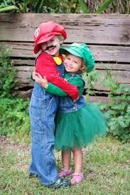 Toddler Luigi Halloween Costume Mario Princess Peach Sibling Halloween Costumes Princess
