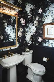 wallpaper designs for bathroom 20 trendy moody floral wallpaper ideas shelterness