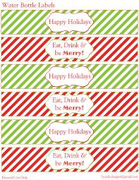 12 days of christmas diy printable freebies day 3 u2013 water bottle