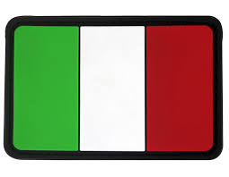 Italain Flag Seibertron Tactical Italian Flag Patch With Hook And Loop Fasterner