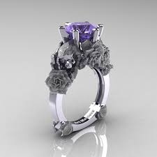 tanzanite engagement ring tanzanite wedding rings and sorrow 14k white gold 30 ct