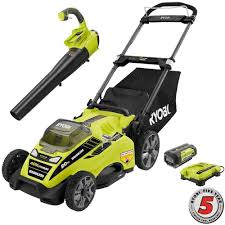 ryobi 20 in 40 volt lithium ion cordless lawn mower with jet fan