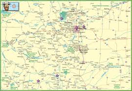 Utah Cities Map by Large Detailed Map Of Colorado With Cities And Roads