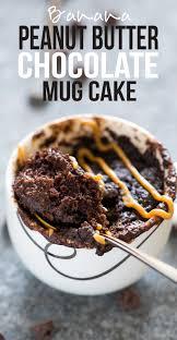 banana chocolate peanut butter mug cake microwave mug cake