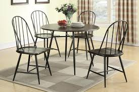 iron dining room chairs furniture round black iron dining table with four chair placed on