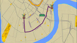 New Orleans Parade Routes Map by Rex Parade Route Wwltv Com