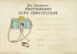 photography gift certificate template gift certificate gift