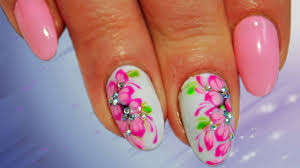 pink sakura top awesome nail art design nail art design youtube