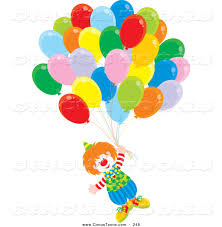 clown clipart balloon party pencil and in color clown clipart