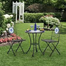 Mosaic Bistro Table Furniture Of America Spector Blue Mosaic Bistro Chairs Set Of 2