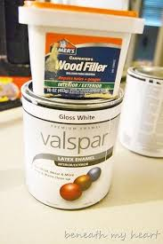 how to apply valspar cabinet paint painting our kitchen cabinets supplies and process