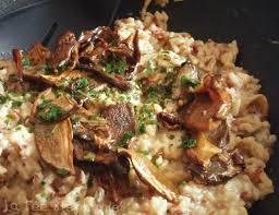 cuisiner des cepes frais risotto aux cèpes crème de chignons et riz de camargue
