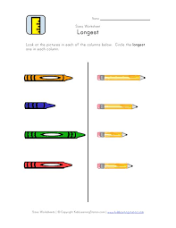 learning about sizes length worksheets