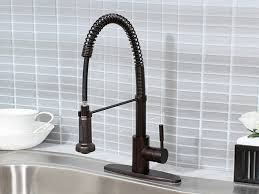 rubbed bronze pull kitchen faucet kingston brass pull kitchen faucet