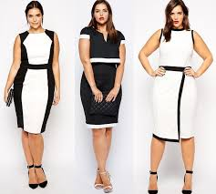 plus size blouses for work 5 chic black and white plus size dresses curvyoutfits com