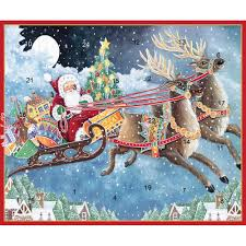 santa u0027s sleigh advent calendar greeting card 1 card u0026 1 envelope