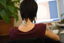 30 neck back tattoos for girls